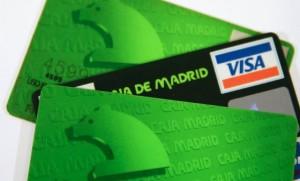 Tarjetas VISA de Caja Madrid. Reuters.
