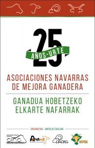 Celebración del 25 aniversario de asociaciones navarras de mejora ganadera: AFNA, ARANA, ASLANA y ASPINA.