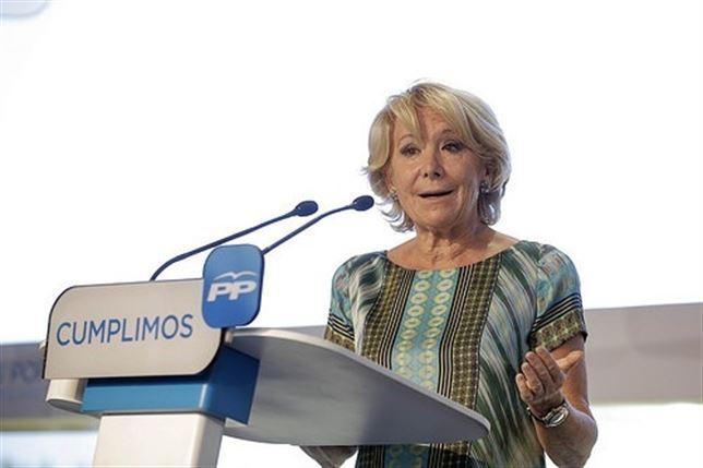 Aguirre dice que el gerente del PP de Madrid depositará el dinero