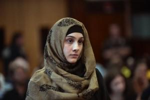 Ailina Tsarnaeva durante el juicio (AP)