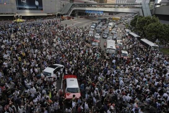 Se cumple una semana de desobediencia civil en Hong Kong