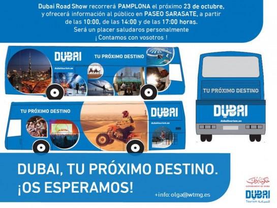 AGENDA: 23 de octubre, Paseo Sarasate de Pamplona, El Road Show 'Dubai