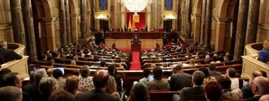 Hemiciclo del Parlamento catalán. (La Vanguardia).