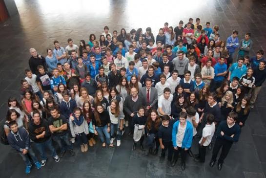 152 estudiantes de Secundaria visitan Baluarte de la mano del arquitecto Patxi Mangado