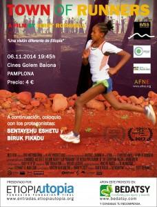 AGENDA: 6 de noviembre, Cines Baiona de Pamplona, documental 'Town of runners' (fundación Etiopía Utopía)