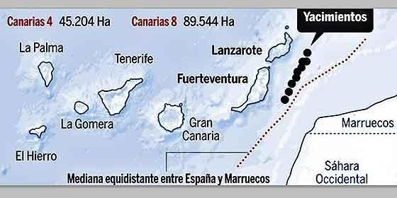 Marruecos encuentra petróleo a 200 kilómetros al norte de Canarias