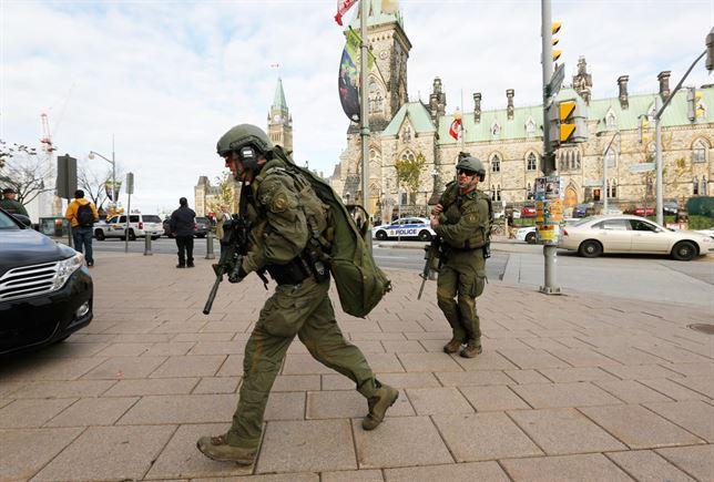 La Policía de Canadá mata a tiros en el Parlamento a un hombre armado