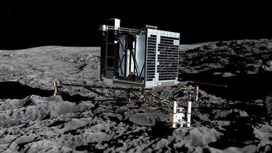 La sonda 'Philae' sigue enviando datos a la nave 'Rosetta' aunque la ESA teme por la falta de luz solar