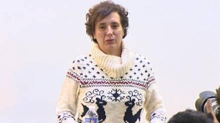 Teresa Romero, tras obtener el alta hospitalaria.
