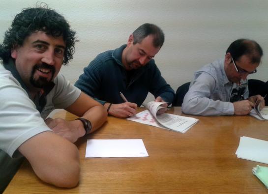 TCC Pamplona y el Comité de Empresa firman el convenio para los próximos tres años