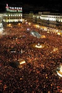1. 2. nochevieja en Madrid, desde la PUerta del Sol.