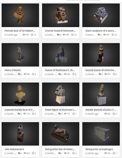 El Museo Británico ya permite reproducir con impresoras 3D