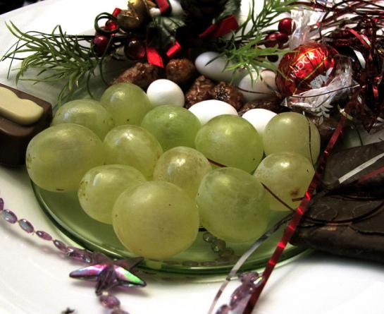 Los españoles consumiremos más de 3 millones de kilos de uva esta Nochevieja