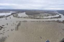 El riesgo de inundaciones se centra en Estella, cauce bajo del Arga y localidades vecinas del Ebro