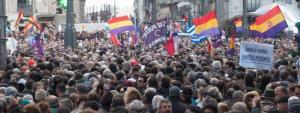 Podemos se manifiesta en Madrid de forma mul