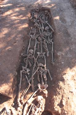Se hallan restos humanos en El Carrascal de Navarra