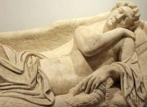 «La bella adormentada», un espléndido sarcófago romano recuperado en estados Unidos. DR