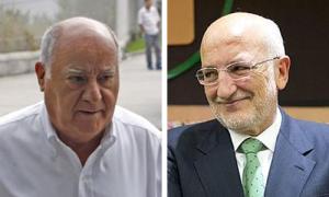 Amancio Ortega (i), Juan Roig (d) presidentes de Inditex y Mercadona.