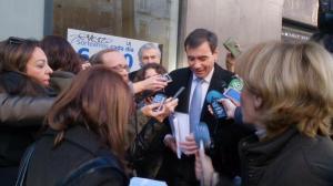 Tomás Gómez a la entrada de la AN