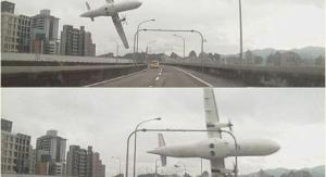Imágenes del accidente aéreo en Taipéi DR