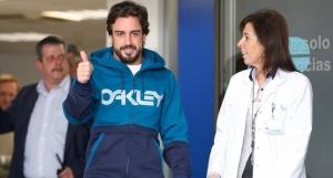 Alonso sale del hospital