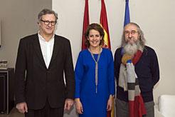 Barcina recibe a la nueva junta del Ateneo Navarro