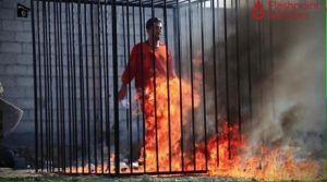 EI quema vivo al rehén  jordano