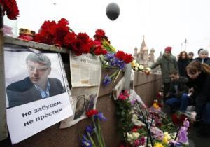Homenaje ciudadano en Moscú al opositor asesinado