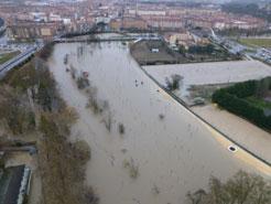 Las avenidas llegarán esta tarde a Funes y de madrugada a la Ribera