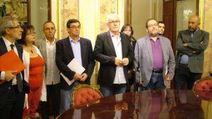Los diputados de Izquierda Plural (IU-ICV-CHA) en el Congreso. DR