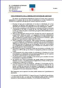 NOTA INFORMATIVA  DE LA CORPORACIÓN MUNICIPAL 2