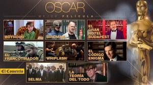 Oscar 2015. Oscar 2015: fichas y tráilers de las nominadas a Mejor Película.