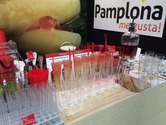 Degustaciones de cócteles con pacharán navarro, pinchos y maridajes de verduras y vino, propuestas gastronómicas de Pamplona en Madrid Fusión