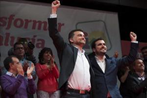 Acto cierre de Campaña de IU, con Antonio Maíllo, Alberto Garzón