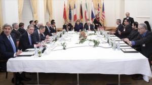 Cancilleres de Irán y el Grupo 5+1 durante una reunión en Viena, capital