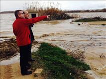 Alberto Catalán, presidente del Parlamento Foral, visita las zonas inundadas de Navarra