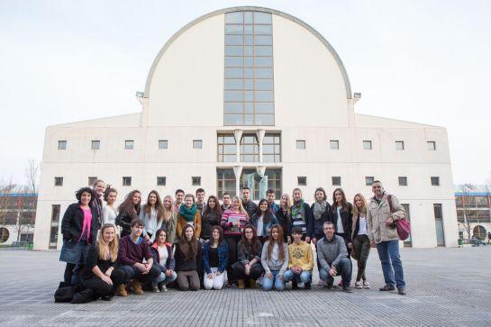 Estudiantes alemanes de intercambio con el Colegio Salesianos de Pamplona visitan la UPNA
