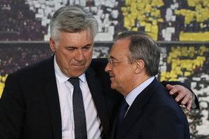 Florentino Pérez presenta a Carlo Ancelotti