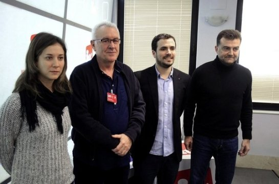 Los militantes de IU en Madrid dicen 'no' a la integración con Podemos