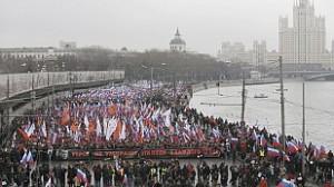 Marcha Moscú memoria Nemtsov