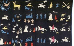 ReproducirPararAnteriorSiguienteARTE INDIOPrimera vez que se exhiben en Estados Unidos El Metropolitan homenajea en una exposición a la cultura histórica de los indios de las llanuras  Pieza textil fechada en 1915, fabricada en algodón y procedente de la cultura Dakota o Lakota. MET