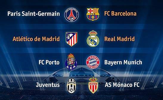 Atlético – Real Madrid y PSG – Barcelona, cruces de los españoles en los cuartos