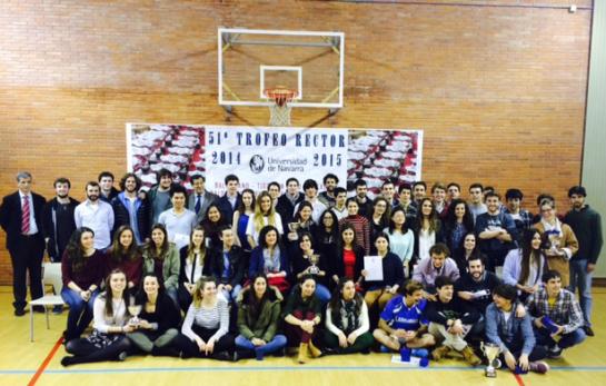 Entrega de los trofeos de la 51ª Edición Trofeo Rector de la Universidad de Navarra