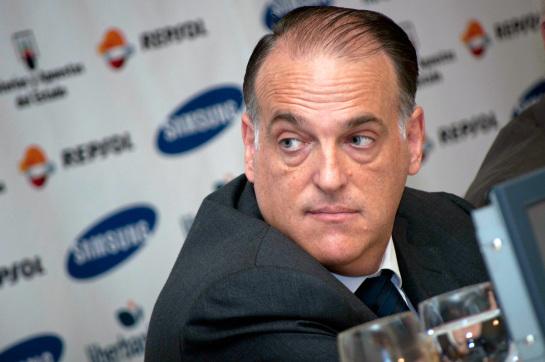 """Tebas: """"La sanción a Blatter y a Platini me parece poca"""""""