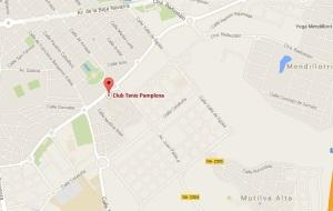 mapa club de tenis pamplona