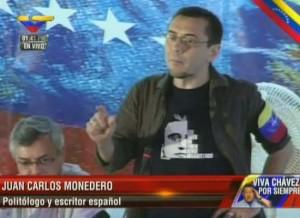 Monedero, en una televisión venezolana | Archivo