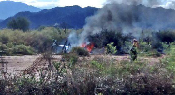 10 personas muertas tras chocar dos helicópteros en Argentina