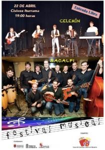 AGENDA: 22 de abril, Civivox Iturrama de Pamplona, Concierto Celemín y Sacalfi (XXIV Semana Cultural Castilla-León)