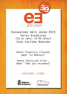 Cartel de la final de Artes Escénicas.Burlada