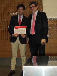 El consejero Iribas con Pablo Galarraga, responsable de ventas de ALDI en la zona norte.